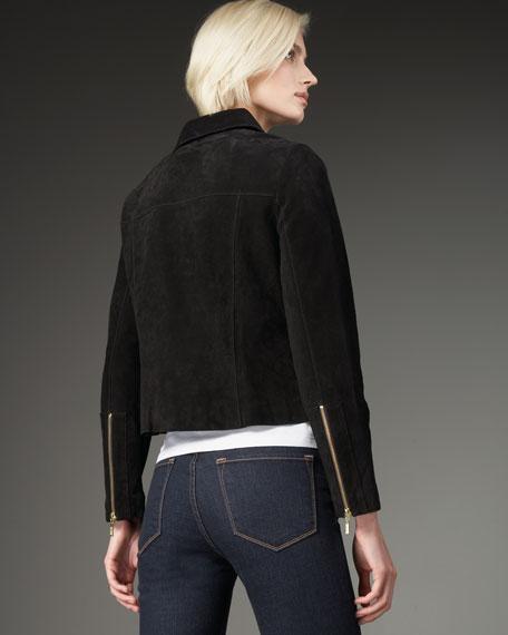 Suede Fringe Jacket, Women's