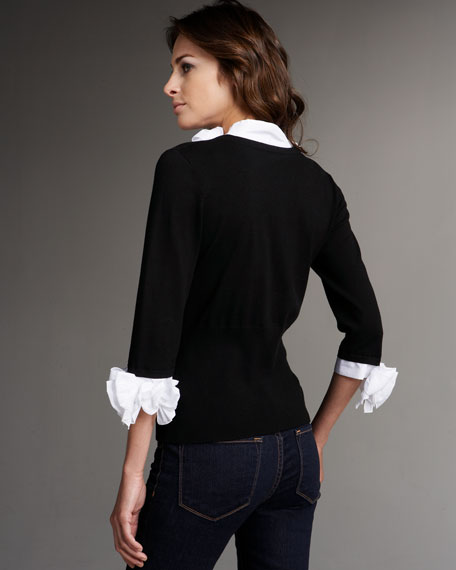 Sweater Combo Blouse
