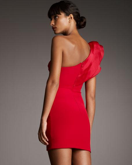 Big-Ruffle Cocktail Dress