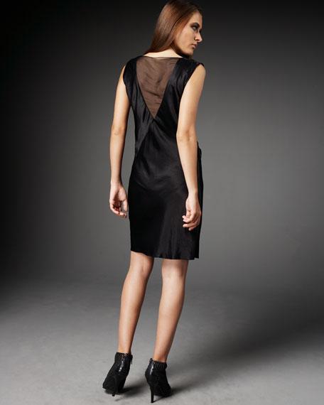 Crinkled Satin Dress