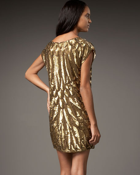 Sequined Bugle Bead Dress