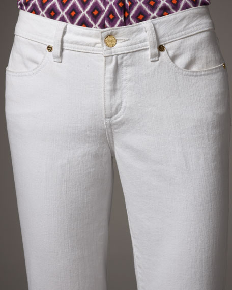 Cropped Ankle-Zip Jeans
