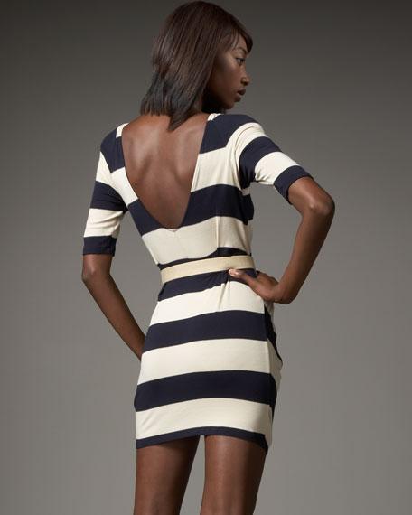 Belted Stripe Dress