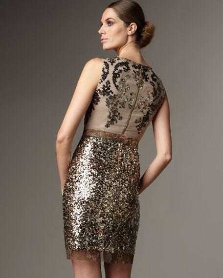 Isla Sequined Sheath Dress
