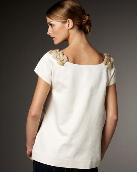 miriam bow-neck blouse