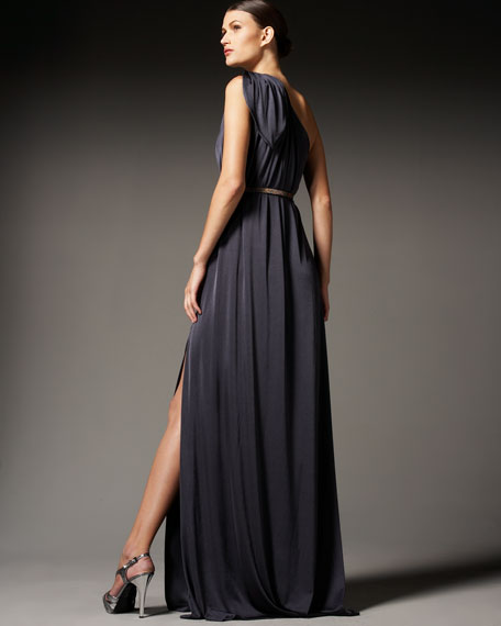 One-Shoulder Knot Gown