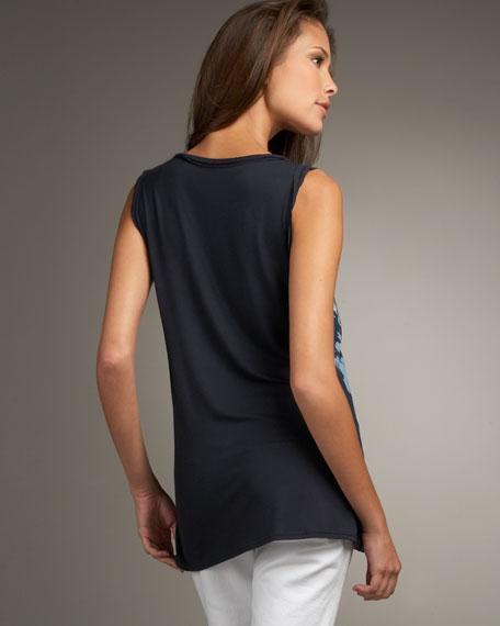 Nina Printed-Front Blouse