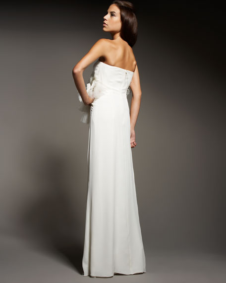Embellished Georgette Gown