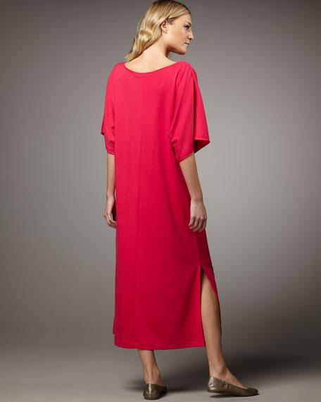 Keyhole-Detail Long Dolman Dress