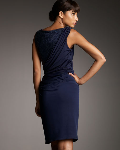 Sequined Jersey Dress