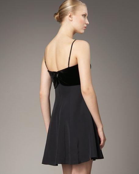 Silk & Velvet Dress