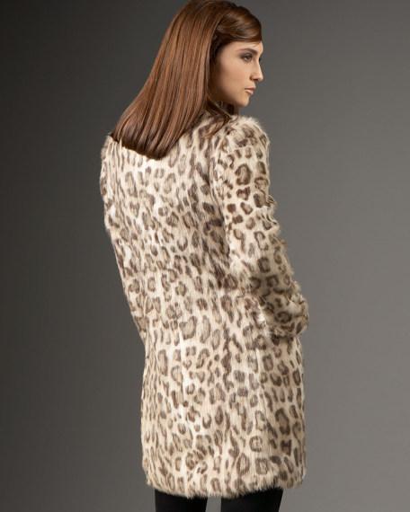 Cheetah-Print Faux Fur Coat