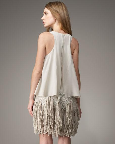 Crochet & Fringe Combo Dress