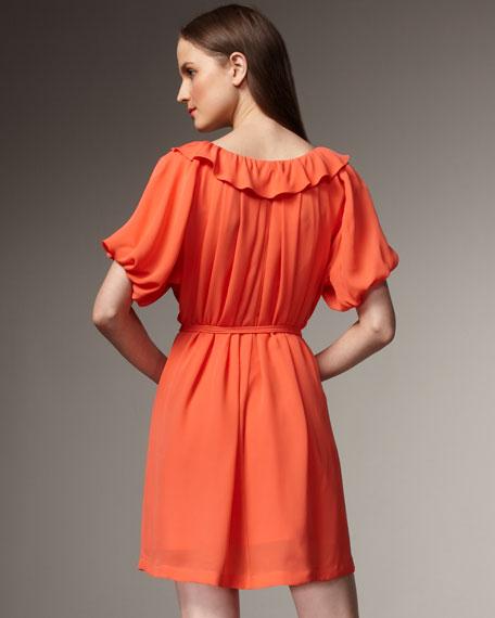 Blouson Tie-Waist Dress