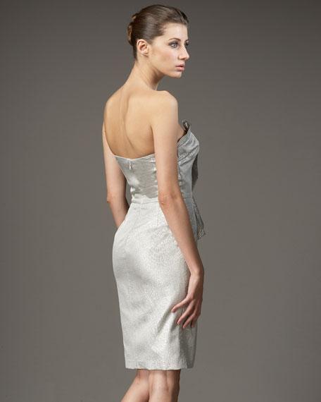Brocade Cascade Dress