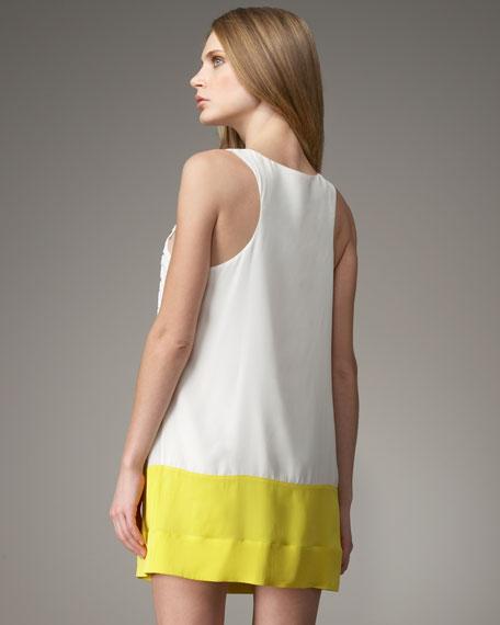 Colorblock Beaded Dress