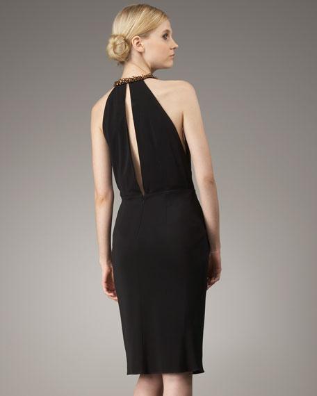 Jennifer Bead-Neck Dress