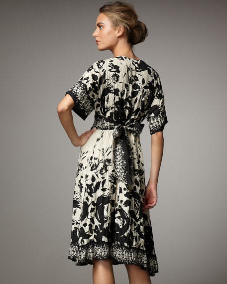 Habutai Floral-Print Dress