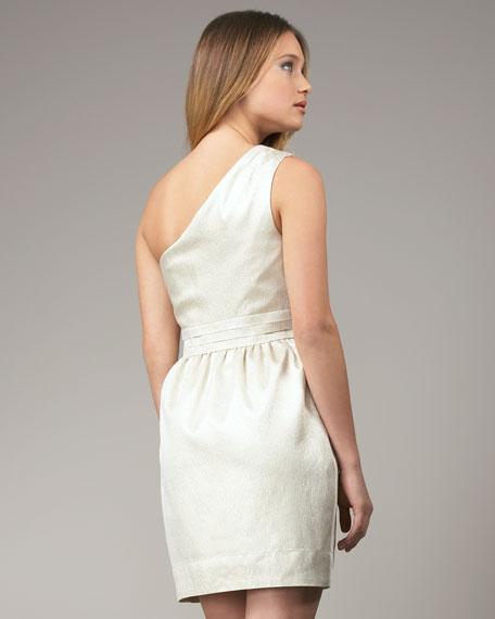 Metallic One-Shoulder Dress