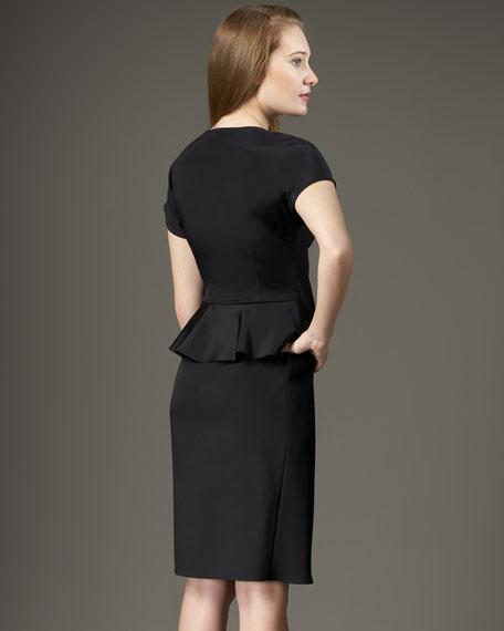 Side-Ruffle Peplum Dress