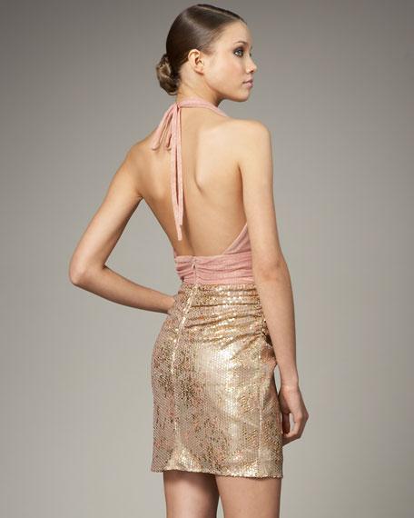 Halter Combo Dress