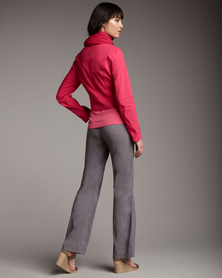 Linen-Blend Classic Pants, Women's