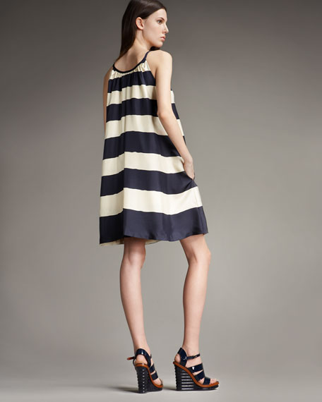 Bella Striped Trapeze Dress