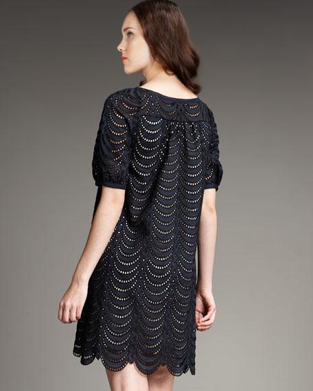 Edith Eyelet Short-Sleeve Dress