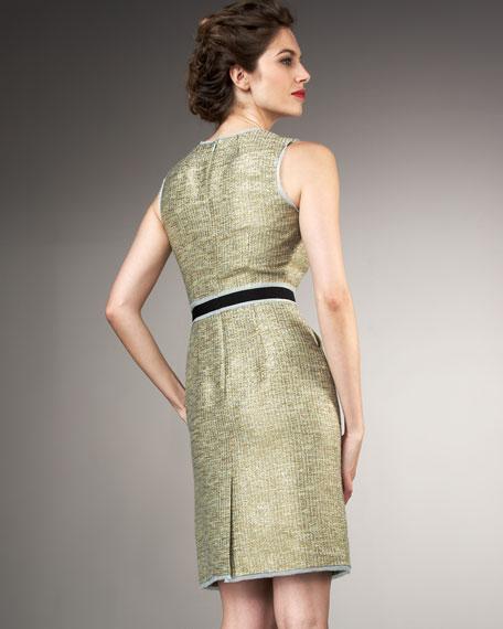 Colette Metallic Sheath Dress