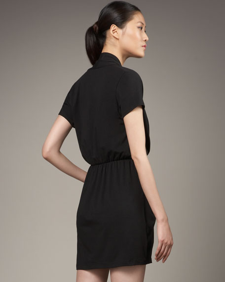 Short-Sleeve Stretch Dress