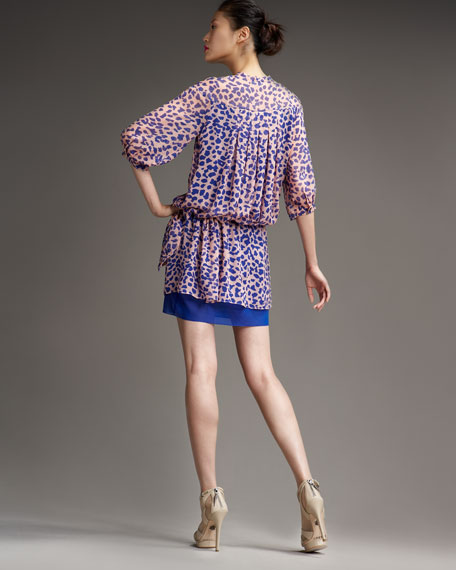 Desma Leopard-Print Dress