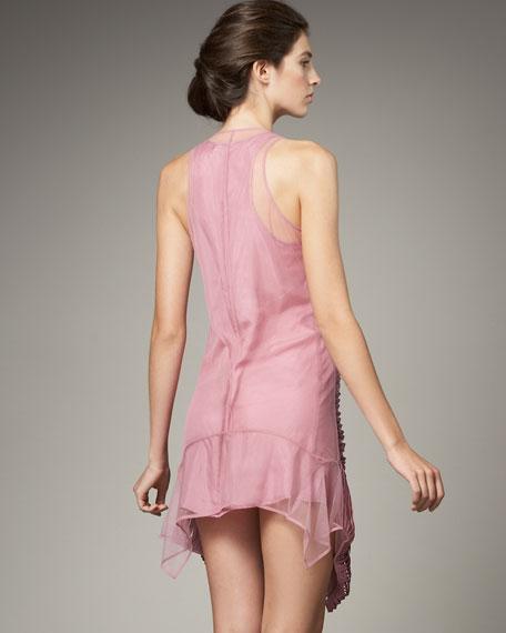 Steffana Silk-Ribbon Tulle Dress
