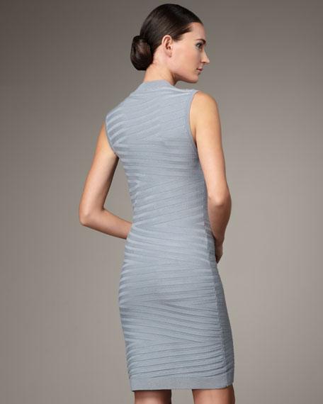 Front-Zip Sweater Dress