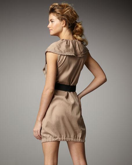 Ruffle-Front Dress