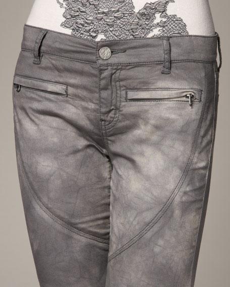 Tie-Dye Denim Leggings