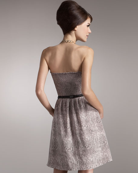 Exclusive Python-Print Dress