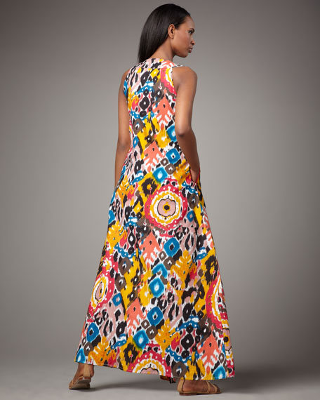 Bailey Ikat-Print Maxi Dress