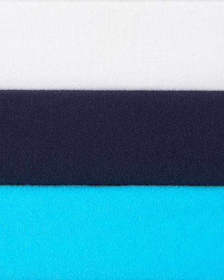 Half-Sleeve Cowl-Neck Top