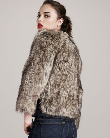 Faux-Fur Chubby Coat