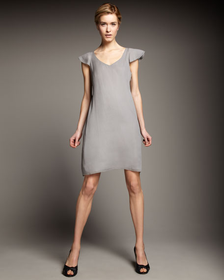 Silk Crinkle Dress