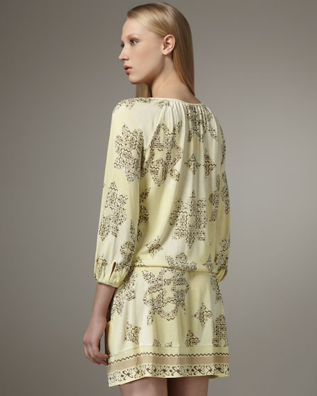 Drop-Waist Dress With Pockets