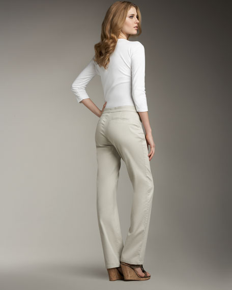 Chino Straight-Leg Trouser, Women's