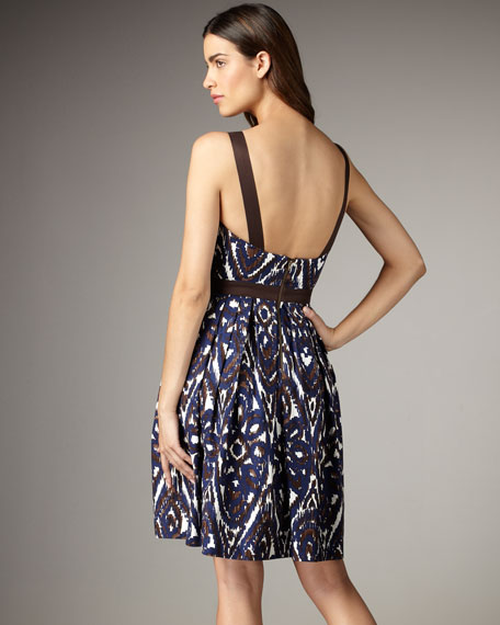 Ikat Print Dance Dress