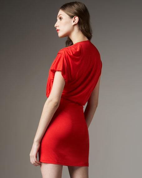 Gathered-Top Jersey Dress