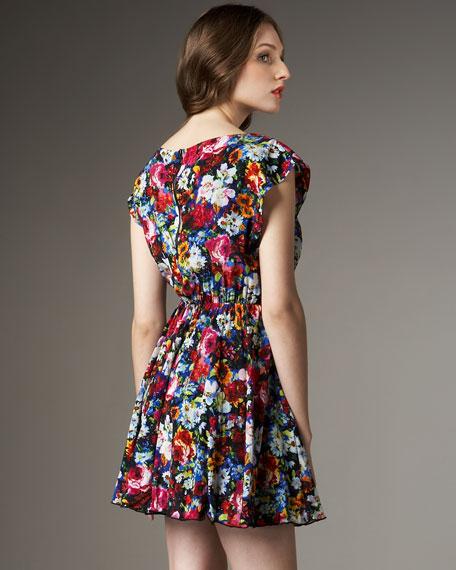 Matilda Boquet-Print Dress