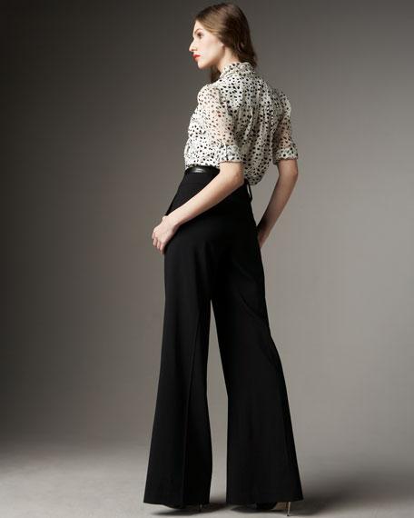 Paula Belted High-Waist Pants
