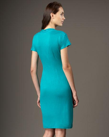 Drape-Neck Dress, Women's