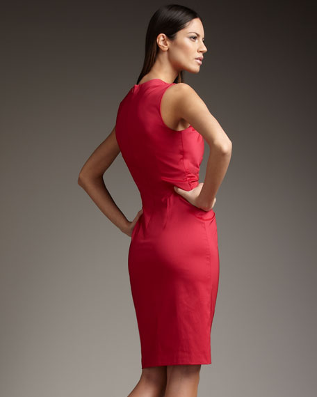 Ruched Asymmetric Dress