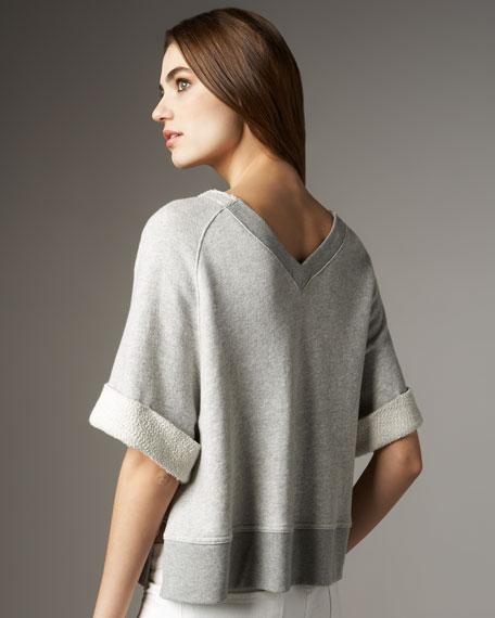 Vee Short-Sleeve Sweatshirt