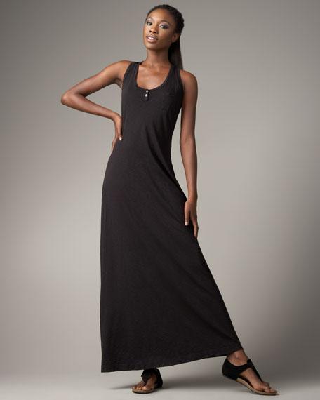 Racerback Maxi Dress, Black